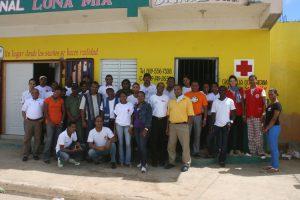 Nach jedem Training gibt es ein Gruppenfoto zur Erinnerung. (c) DRK