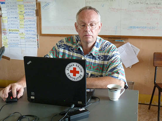 DRK-Mitarbeiter Professor Joachim Gardemann