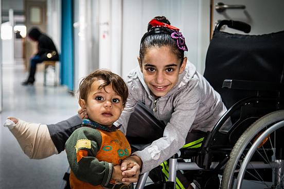 Flüchtlingskind Amnah in Azraq, Jordanien