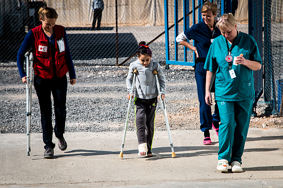 Erste Schritte im Flüchtlingskrankenhaus Azraq