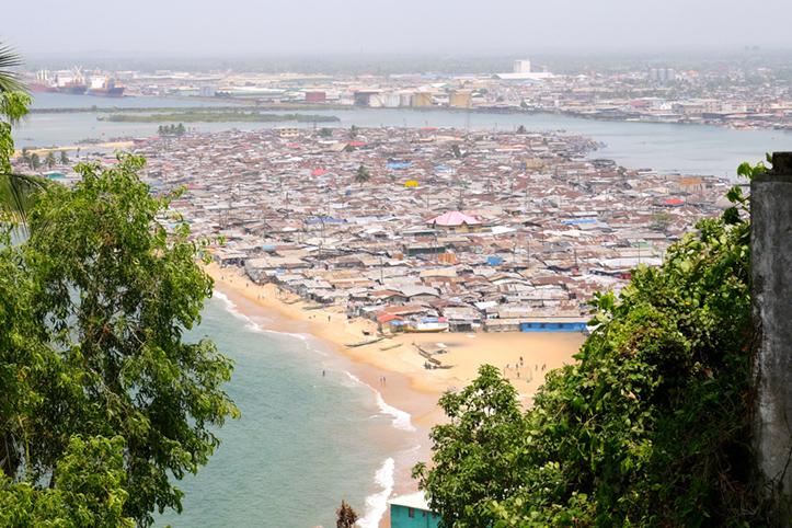 Foto: Blick auf Monrovia, Liberia.