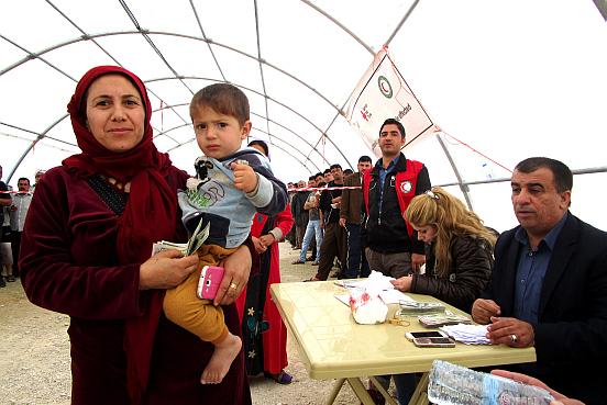 Flüchtlinge erhalten Unterstützung