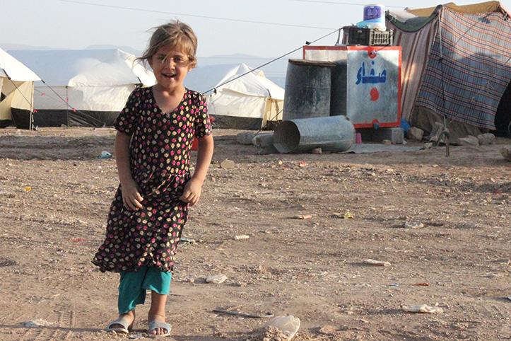 Foto: Mädchen im irakischen Flüchtlingslager