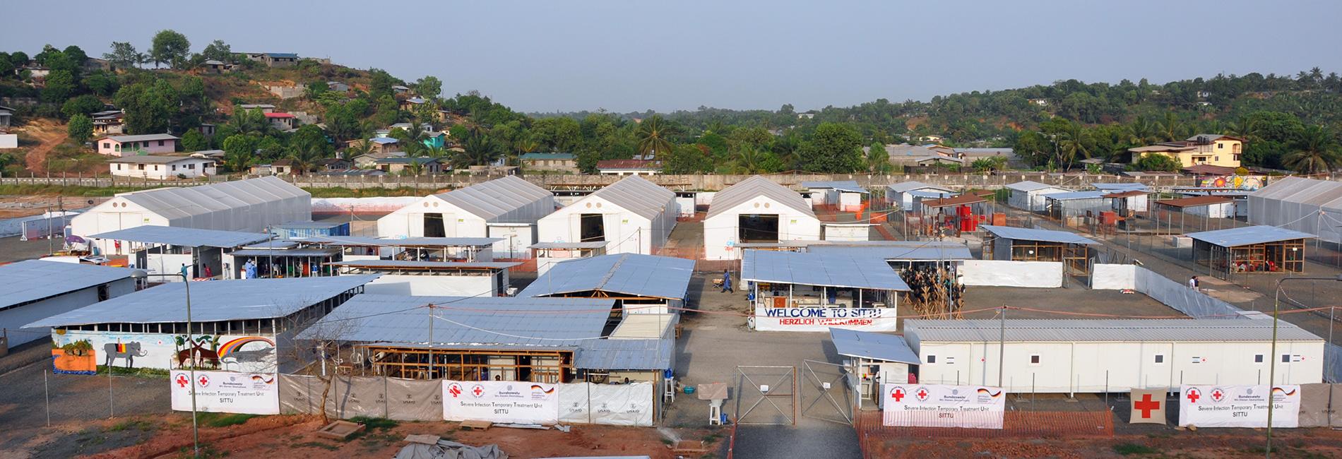Foto: Die Gebäude der temprären Infektionsklinik