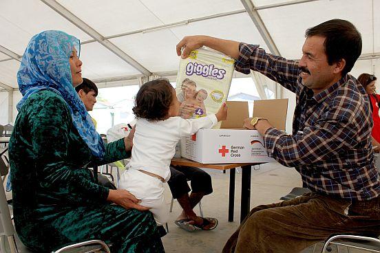 Hygieneartikel für Flüchtlinge