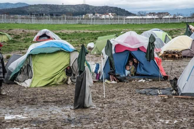 Idomeni Flüchtlinge