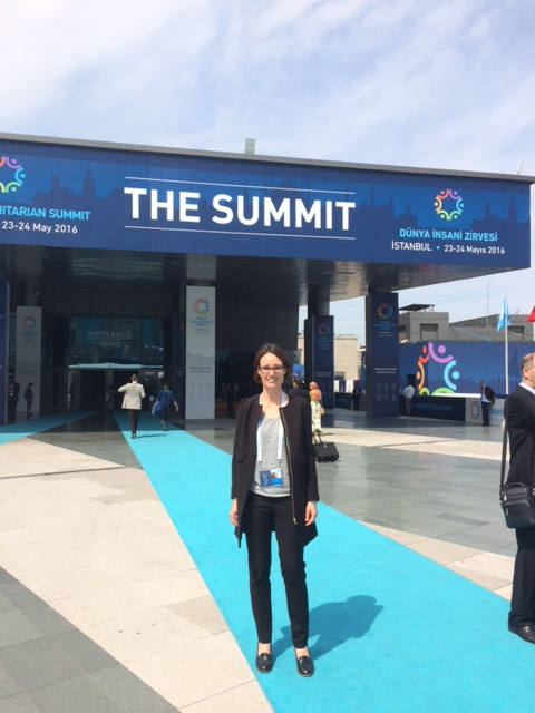 Alexandra_Rueth beim World Humanitarian Summit in Istanbul 2016
