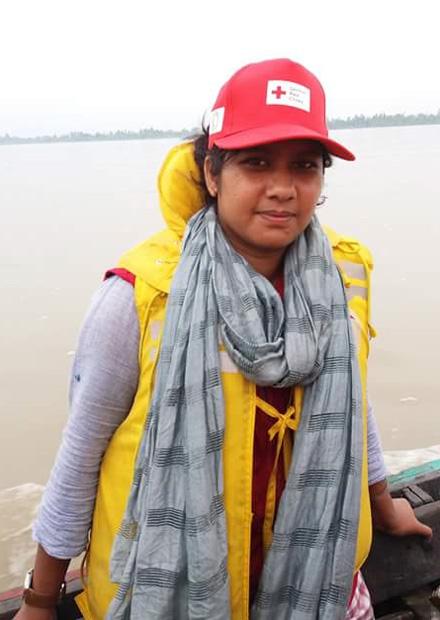 Die 26-jährige Anita Moushumi engagiert sich seit ihrer Jugend beim Bangladeschischen Roten Halbmond. Foto: DRK