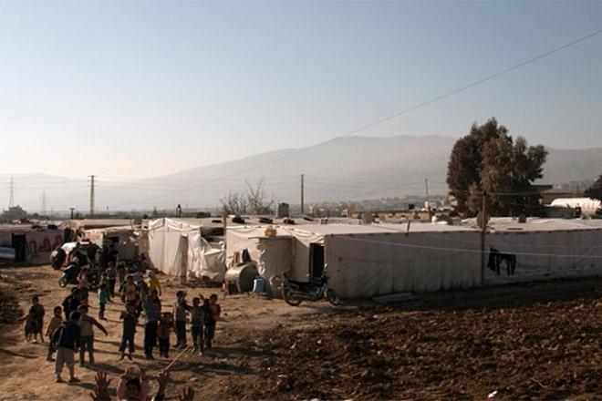 Ein syrisches Flüchtlingslager im Libanon