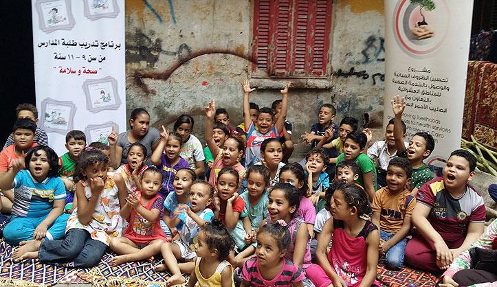 Ägyptische Schulkinder