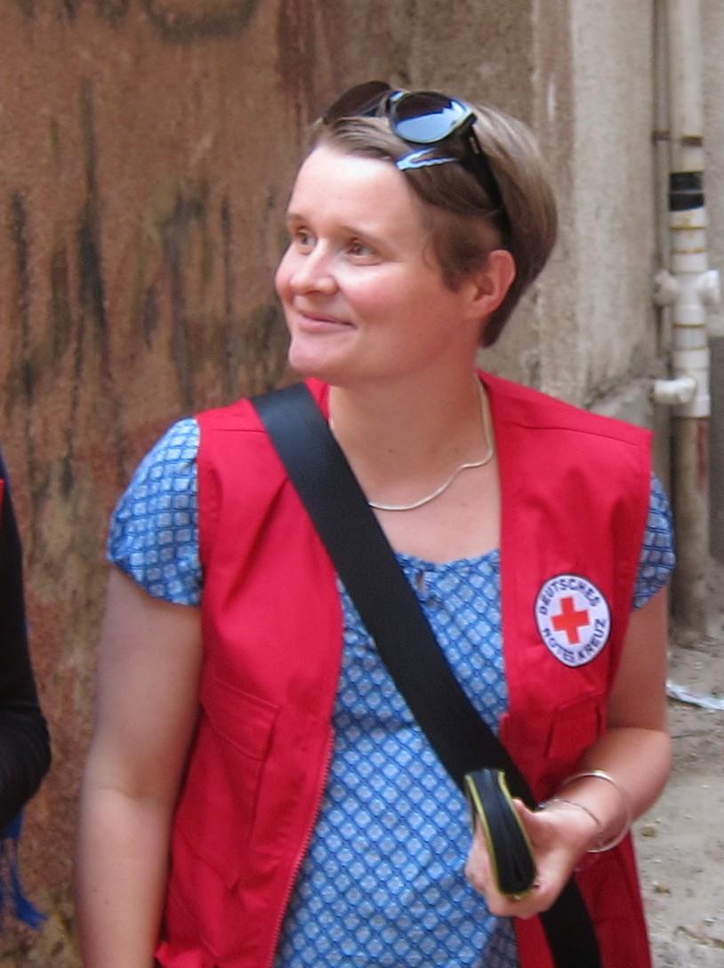 DRK-Mitarbeiterin S. Sauer