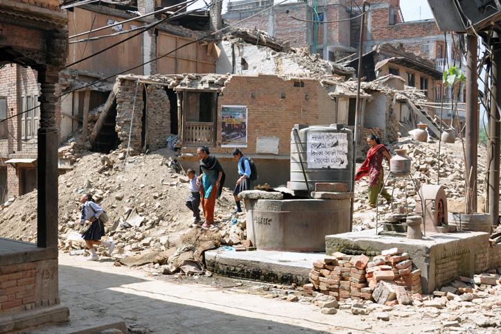 Foto: Trümmer nach den Erdbeben in Nepal