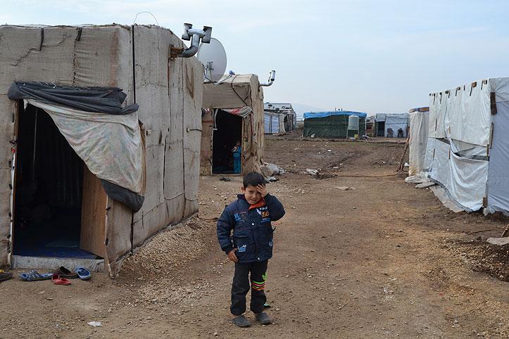 Ein syrischer Flüchtlingsjunge im libanesischen Flüchtlingscamp Zahrani.