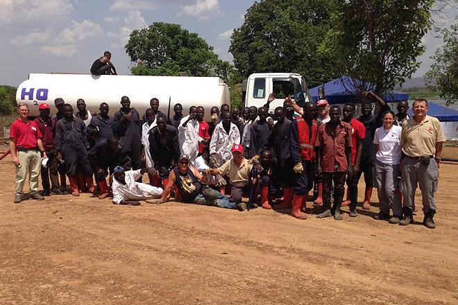 Das Team für die Wasseraufbereitungsanlage