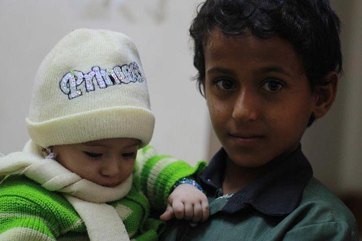 Kinder im Gesundheitszentrum des Jemenitischen Roten Halbmonds