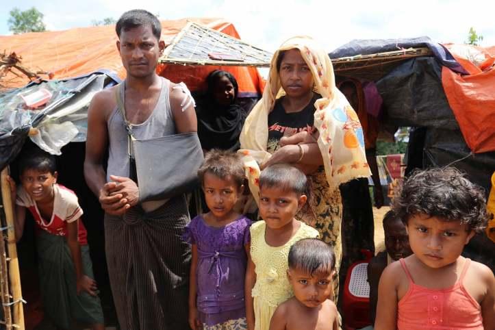 Familie aus Rakhine