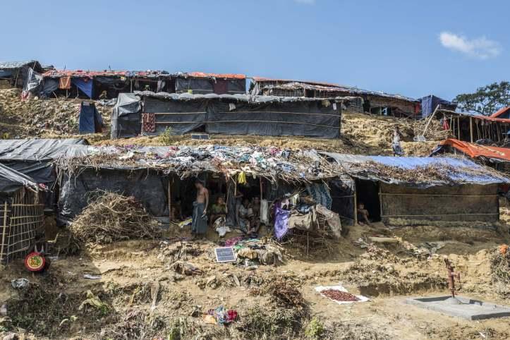 Fluechtlingscamp Hakimpara bei Cox's Bazar in Bangladesch