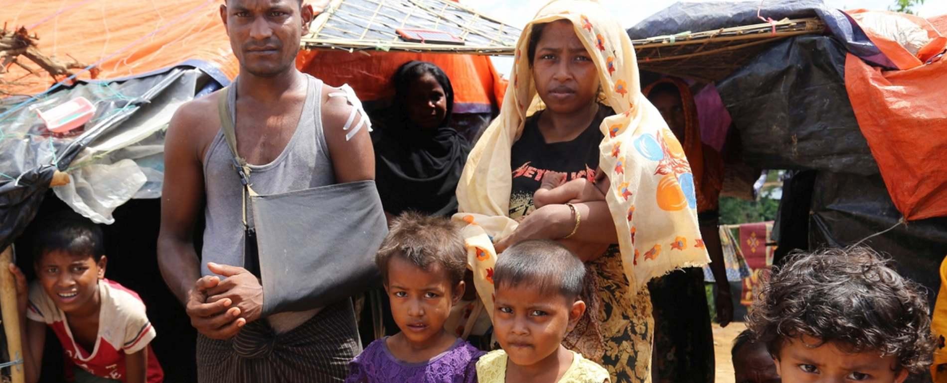 Aus Rakhine geflohene Familie