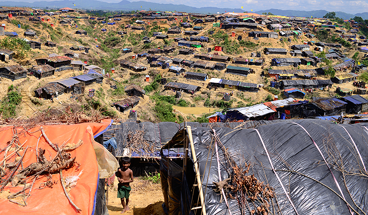 Ein Flüchtlingslager der Menschen aus Rakhine in Cox's Bazar