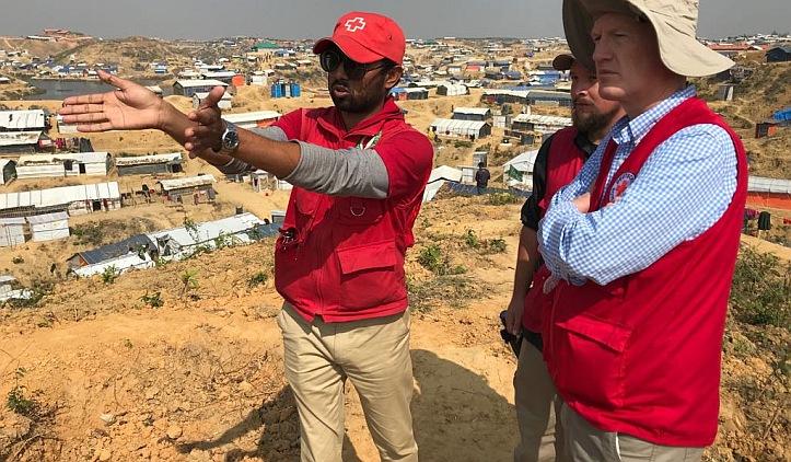 Blick über das riesige Flüchtlingslager