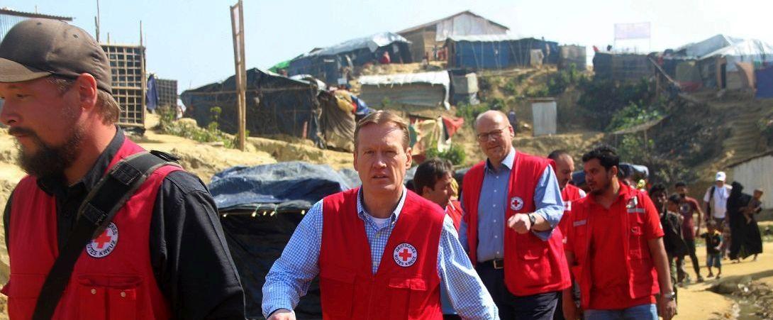 Besuch des DRK-Generalsekretärs Christian Reuter in Bangladesch