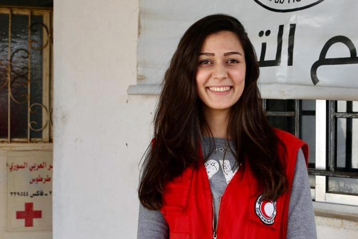 Foto: Portrait einer SARC-Helferin
