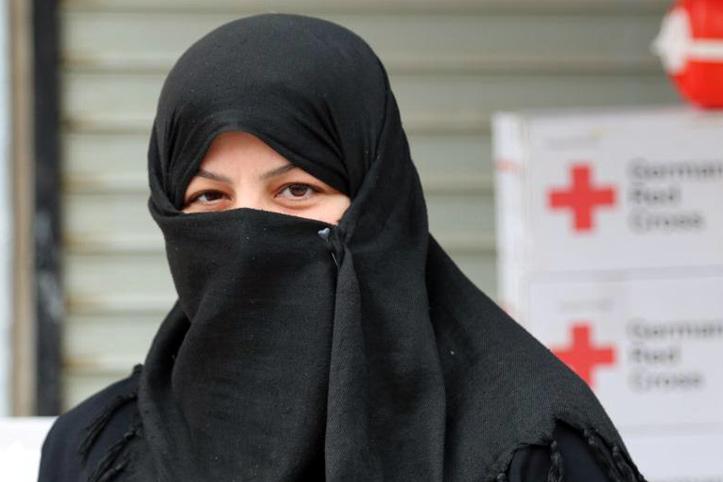 Foto: Portrait einer syrischen Frau mit Kopftuch