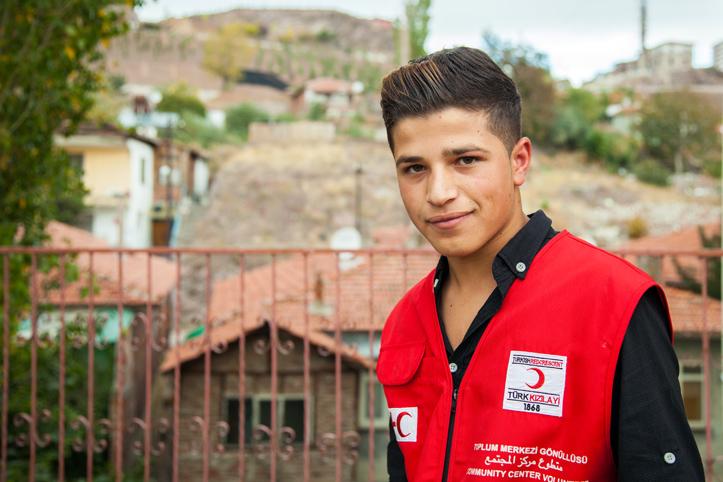 Foto: Portrait eines 15-jährigen Rothalbmondhelfers