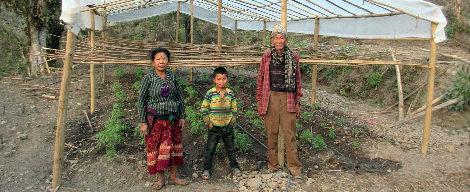 Nepalesische Familie