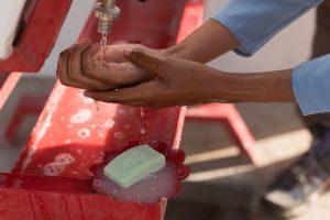 Beim Händewaschen