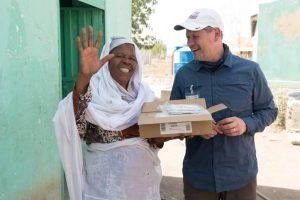 Sudanesin mit Udo KLüwer