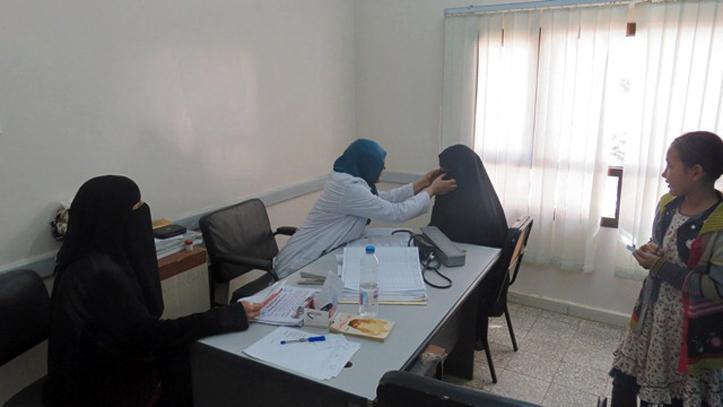 Foto: Ärztliche Untersuchung einer Jemenitin