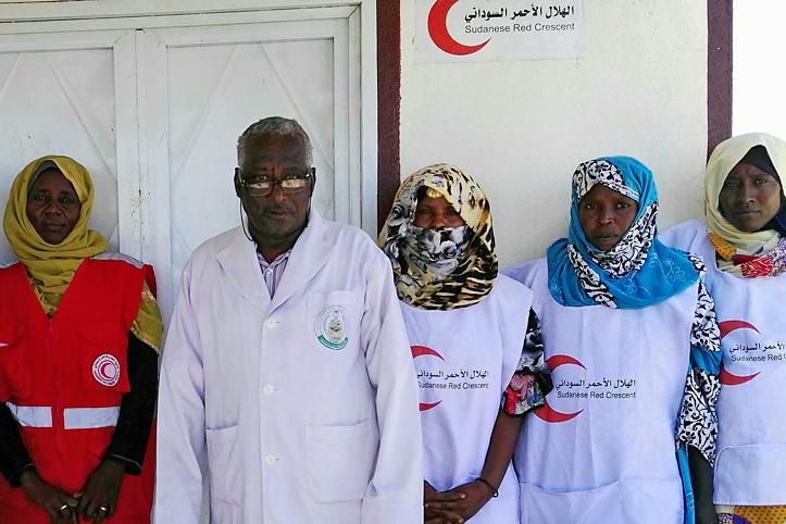 Foto: Das Team der Erste-Hilfe-Station in Garguf