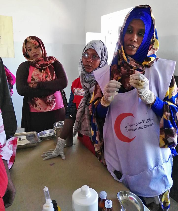 Foto: Freiwillige der Erste-Hilfe-Station in Garguf