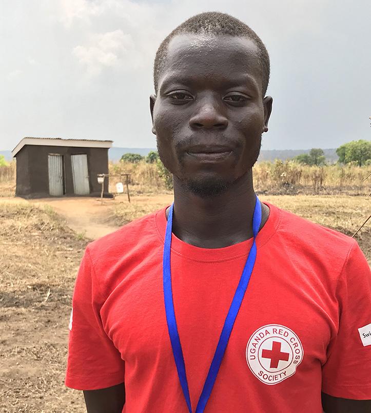 Foto: Portrait eines ugandischen Rotkreuzhelfers