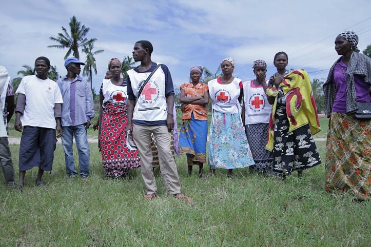 Foto: Eine Gruppe mosambikanischer Rotkreuzhelfer