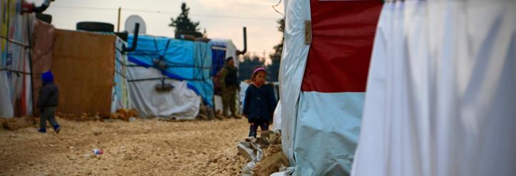 Blick in ein Flüchtlingslager im Libanon