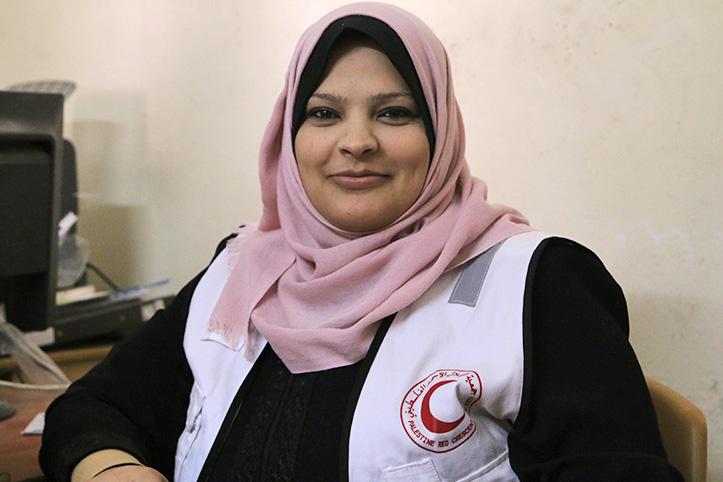 Foto: Portrait einer palästinensischen Freiwilligen
