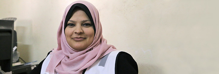 Portrait of health education volunteer Fatima