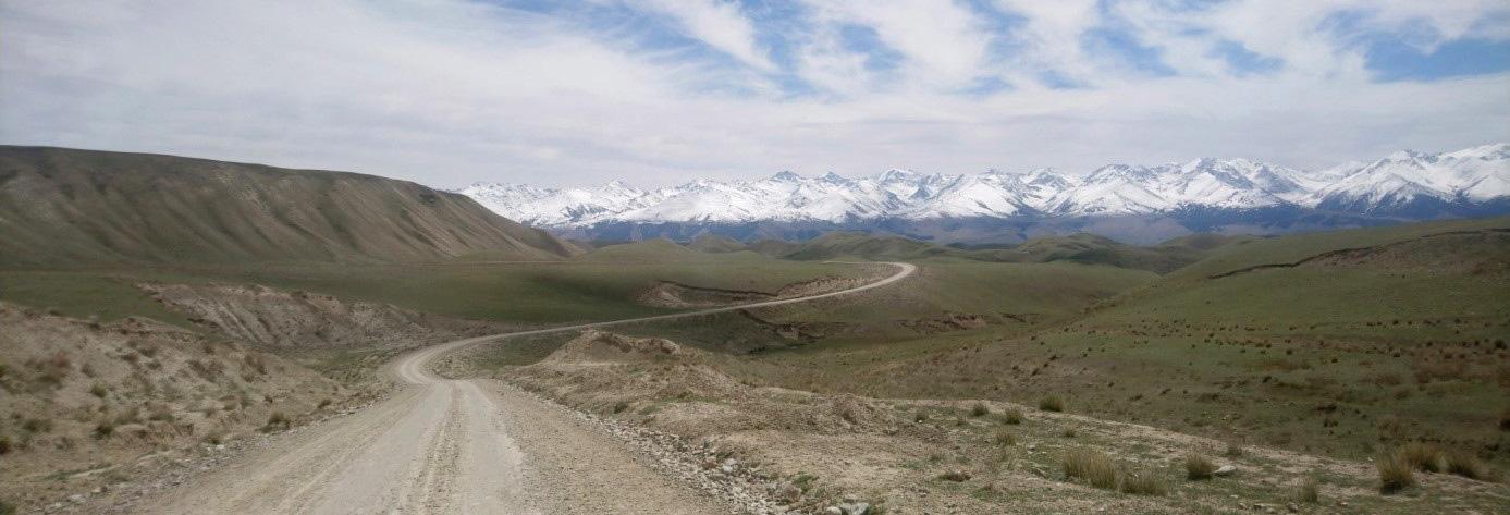 Sandstraße in Kirgistan