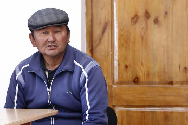 Foto: Dorfvorsteher eines kirgisischen Dorfest