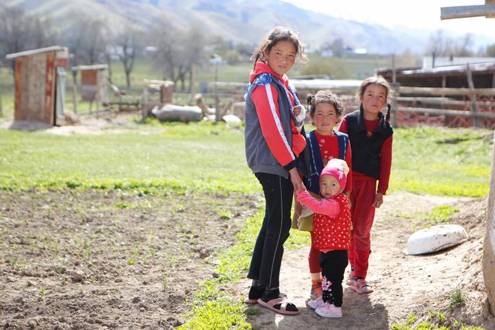 Foto: Kindergruppe in Kirgistan