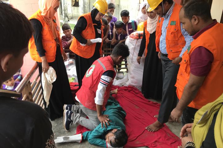 Vorbereitung auf Wirbelstürme: Erste-Hilfe-Training in Bangladesch