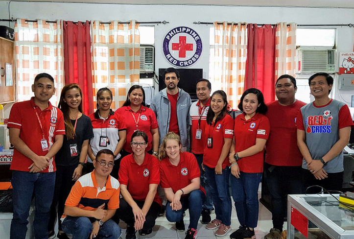 German and filipino Red Cross team