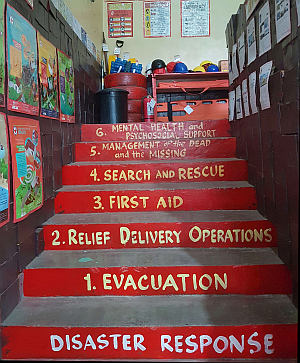 Disaster Risk Reduction in the Philippines: painted stairs