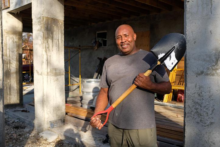 Betroffener von Hurrikan Dorian auf den Bahamas