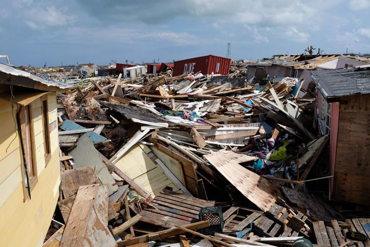 Zerstörung auf den Bahamas nach Hurrikan Dorian