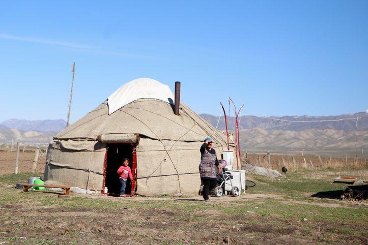 Foto: Jurte in Kirgistan