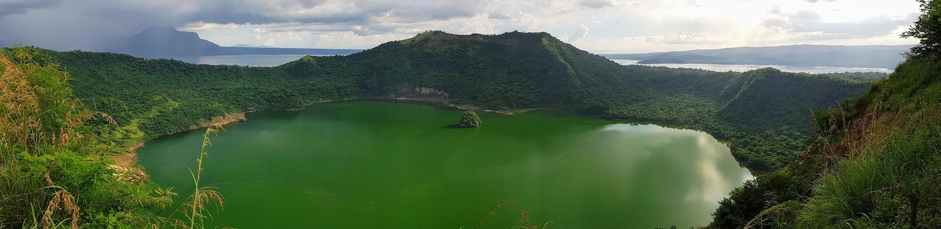Taal-Vulkan auf Philippinen vor seinem Ausbruch