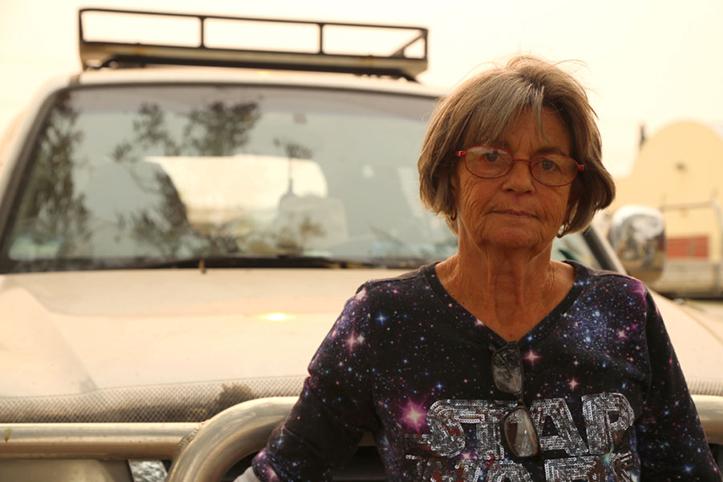 Foto: Vom Buschfeuer in Australienbetroffene Seniorin